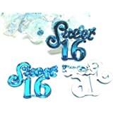 Sweet 16 Turquoise Embellishments Scrap Booking Confetti Table Decoration Party Supplies