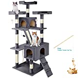 """LIVINGbasicsTM 68"""" Large Cat Tree Condo with Sisal Scratching Posts, Deluxe Multiple Platform"""
