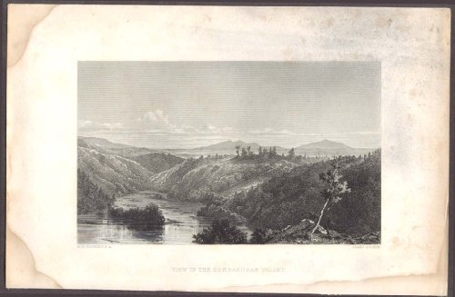 Shenandoah Valley View engraving H W Robbins