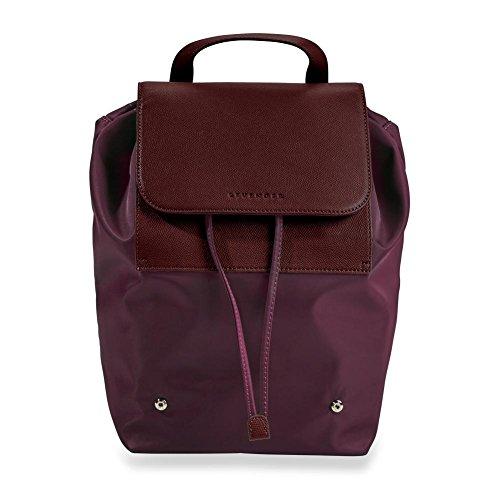 Levenger Convenient Nylon Felicity Foldable Backpack - Oxblood by Levenger