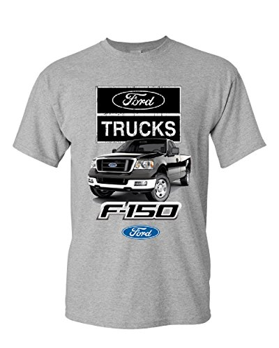 Ford Pickup Trucks F-150 T-Shirt Offroad Country Built Tough 4X4 Mens Tee Shirt Sport Gray L