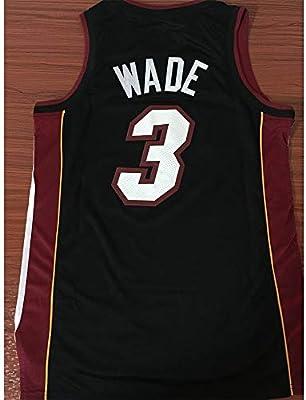 YIXUAN Hombres Jersey Camiseta Miami # 3 Dwyane Wade Swingman ...