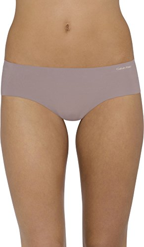 (Calvin Klein Women's Invisibles Hipster Panty, French Roast, Medium)
