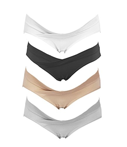 Crazy Cart 4 Pack Women's Under the Bump Maternity Bikini (M, Blend Color)