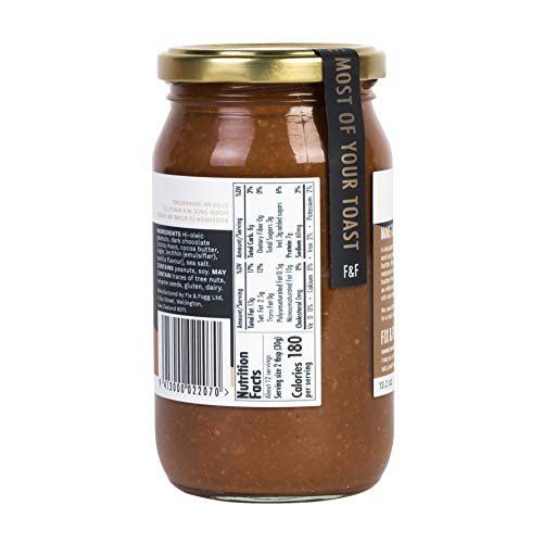 Gourmet Dark Chocolate Peanut Butter from Fix & Fogg with 60% Dark Chocolate. Keto Friendly. Project Non-GMO certified. Superior Tasting Chunky Chocolate Spread. Low in Sugar (13.2 oz) 3