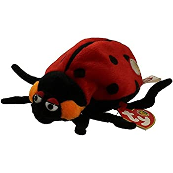 b0432a2c90d Amazon.com  Ty Teeny Beanie Boo Trixy - Lady Bug Plush  Toys   Games
