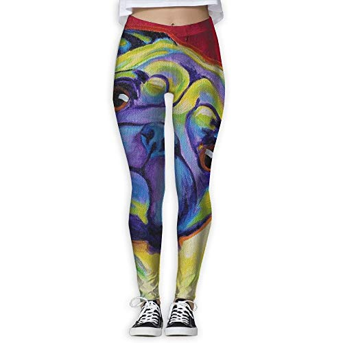 French Bulldog Printing Compression Leggings Pants Tights for Women ()