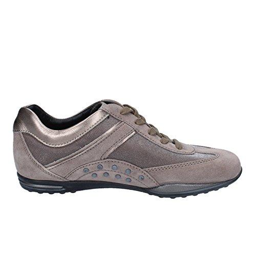 Tod's Sneakers Donna Beige Bronzo Camoscio Tessuto