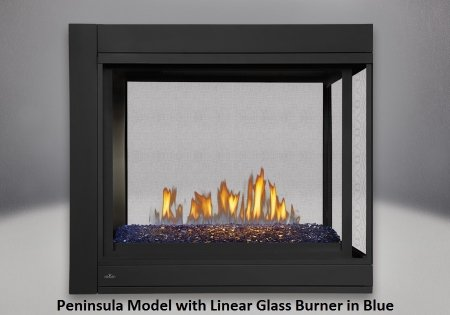 Napoleon BHD4PGN Ascent Multi-View Direct Vent Gas Fireplace Up to 30 000 (Direct Vent Peninsula Fireplaces)