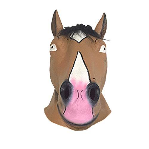 JGBHPNYX Horse Head Mask Spoof Halloween Animal Latex -