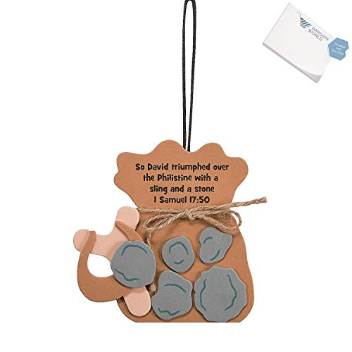 Bargain World Foam David & Goliath Ornament Craft Kit (With Sticky -