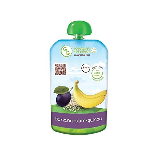 Goodness Gracious Organic Banana, Plum & Quinoa Puree 140g