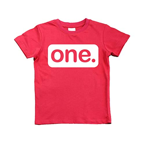 First Birthday Outfit boy 1st Birthday boy Gifts one Year Old Baby Boys Shirt (Red, 2y)