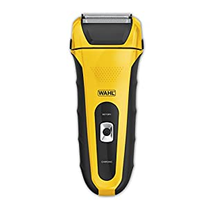 Wahl LifeProof Rechargeable lithium ion wet / dry water proof foil shaver with shock resistant housing for shaving, trimming, and wet or dry shave with precision ground trimmer blade #7061-100
