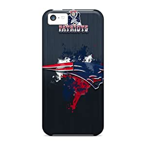 ChristopherWalsh Iphone 5c Shockproof Hard Cell-phone Cases Support Personal Customs Realistic New England Patriots Pattern [Hax32Abhh]