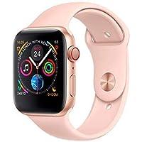 Smartwatch Samba IWO 11 Pro com GPS - Pulseira Silicone 44mm (Rosa)
