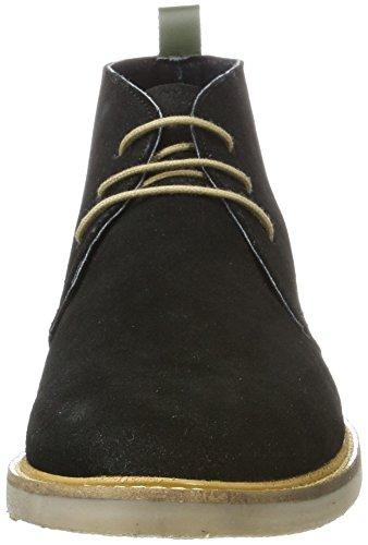 Cordones Tyl Hombre Zapatos Schwarz Para De noir Derby Kickers Perm dqtWOxt