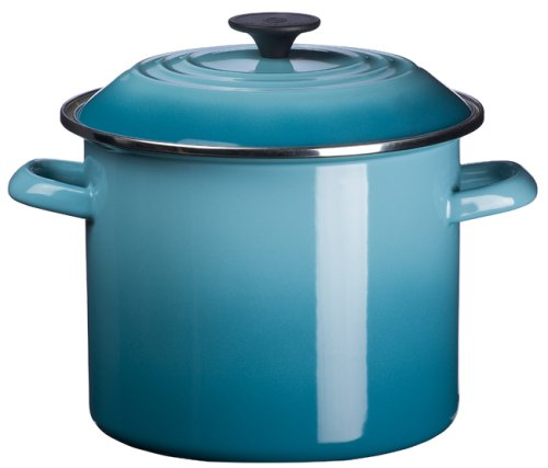 Le Creuset Enamel-on-Steel 6-Quart Covered Stockpot, Caribbean