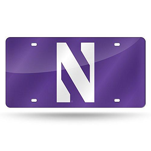 (Rico Industries NCAA Northwestern Wildcats Laser Inlaid Metal License Plate Tag, 6