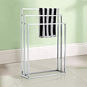 Taylor & Brown® Free Standing Chrome 3 Bar Towel Rail Rack Holder