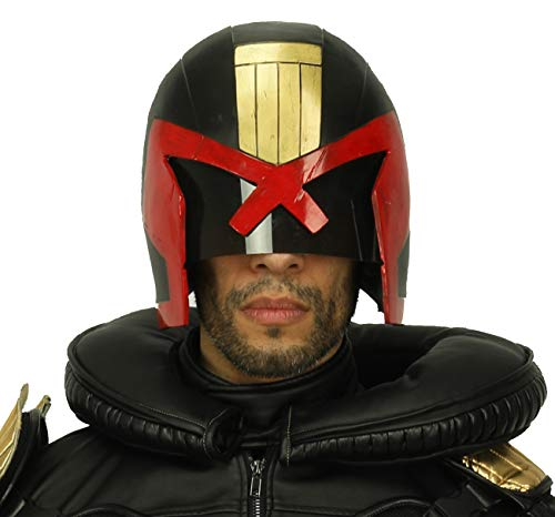XCOSER Judge Dredd Helmet Mask Costume Props Accessories for Halloween Cosplay ()