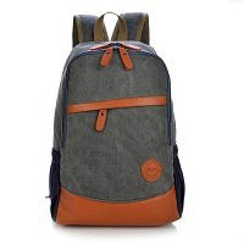 Reise Schultertasche Canvas Rucksack Casual Bag Daypack,DarkBlue Black