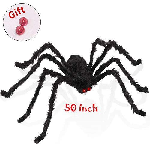Used Halloween Decorations - SUNBA YOUTH Spider-1Pieces 50 Inch Black