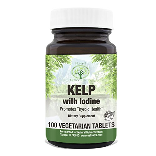 Natural Nutra Kelp Iodine Supplement, North Atlantic Sourced Seaweed Extract, 225 mcg, 100 Vegetarian Tablets Glandular 100 Tablets