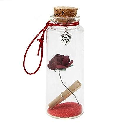 AW Mini Botella De Los Deseos, Cristal/Metal, 12