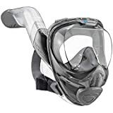 WildHorn Outfitters Seaview 180° V2 Full Face Snorkel Mask with FLOWTECH Advanced Breathing System - Allows for A Natural & Safe...