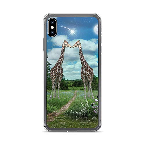 iPhone Xs Max Case Anti-Scratch Creature Animal Transparent Cases Cover Star Kissed Animals Fauna Crystal Clear