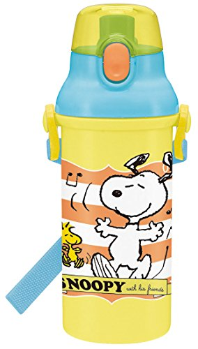 (SKATERS (SKATER) Peanuts Snoopy water bottle 480ml musical made in Japan PSB5SAN)