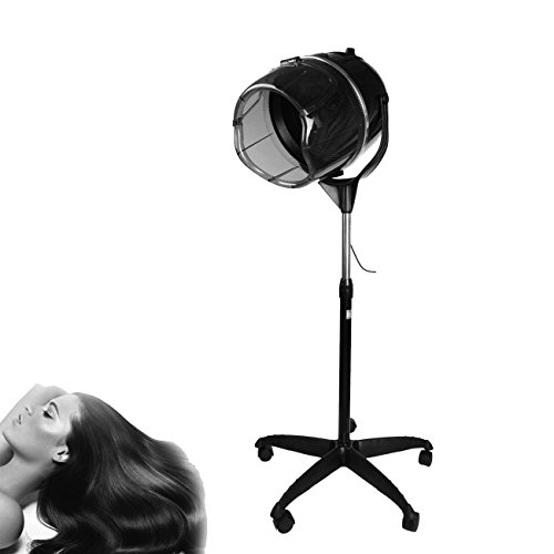 "Iglobalbuy 900W Professional Stand Salon Hair dryer Floor Bonnet Hood Rolling Base W/ 30""-50"" Adjustable Height"