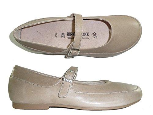 Birkenstock Women's Lismore Nude Leather Flat 42 (US Women's 11-11.5) Regular ()