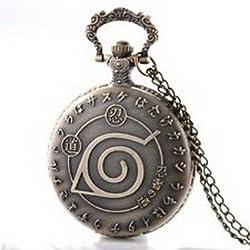 Pixle Pocket Watch - Antique Bronze Anime Theme Vintage Pocket Watch Necklace Quartz Chain Gift Retro