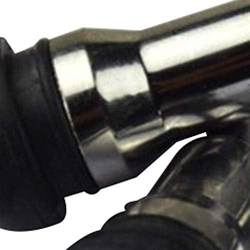 Silver /& Black 4pcs//Set TR413 Tubeless Tyre Valve Stem Caps Snap in Rubber Valve Stems