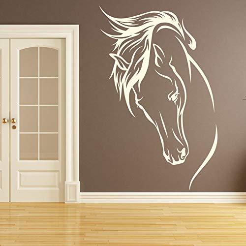 - N.SunForest Horses Head Wall Sticker Horse Wall Decal Girls Bedroom Home Decor