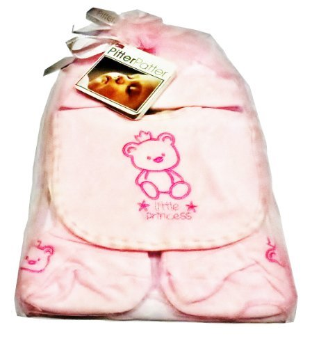 Teddy Bear Four Piece Gift Set for Baby Girl (Pink)