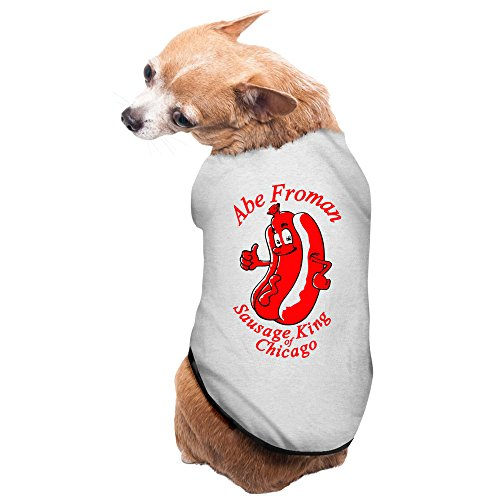 [Abe Froman Sausage King Of Chicago New Pajamas Dog Costumes 100% Polyester Fiber Pet Supplies] (Abe Froman Costume)