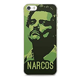 iPhone 5s Transparent Edge Case Narcos Green