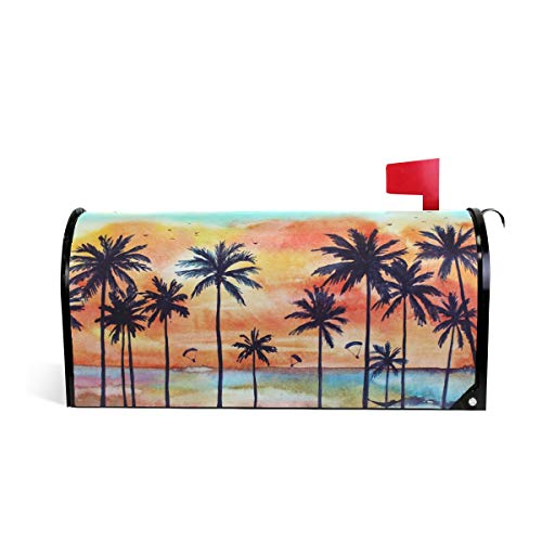 WOOR Tropical Palms Magnetic Mailbox Cover Standard Size-18