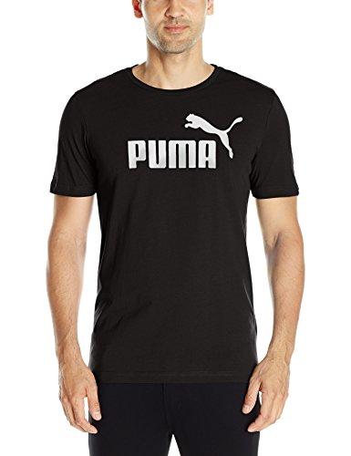 PUMA Men's Essential No.1 Tee, Cotton Black, M