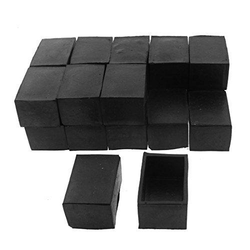 Silla Tabla eDealMax rectángulo Muebles Tapa del Pie de 40mm x 25mm 20pcs Negro by eDealMax