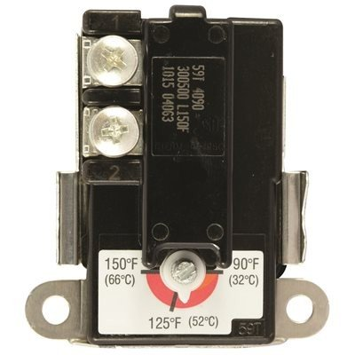 American Water Heater Thermostat, Lower With Cover, Single Pole, Universal