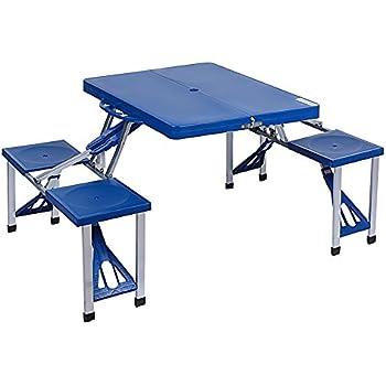 Picnic at ascot portable picnic table set kitchen dining - Low portable picnic table in a bag ...