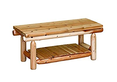 White Cedar Rustic Coffee Table *6 stain options*