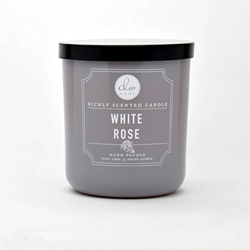(DW Home Medium Single Wick Candle, White Rose)