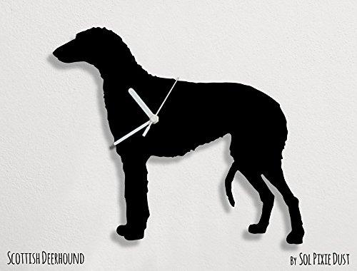 (Scottish Deerhound Dog - Wall Clock)