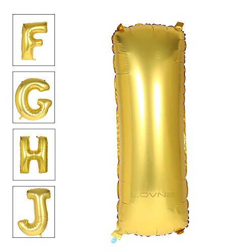 Lovne 40 Inch Gold Alphabet I Balloon Birthday Party Decorations Helium Foil Mylar Letter (40 The Birthday Balloons)