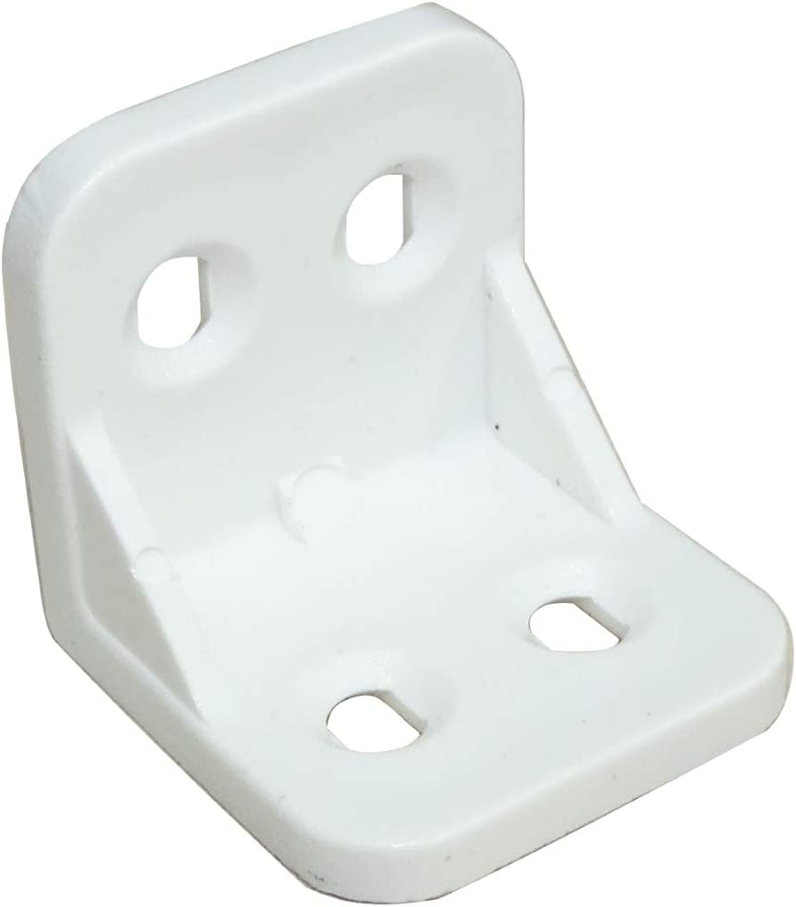 AERZETIX: 50 Escuadras de ángulo racor refuerzo plástico blanco para ensamblaje de muebles panel 27/27/26mm C41742
